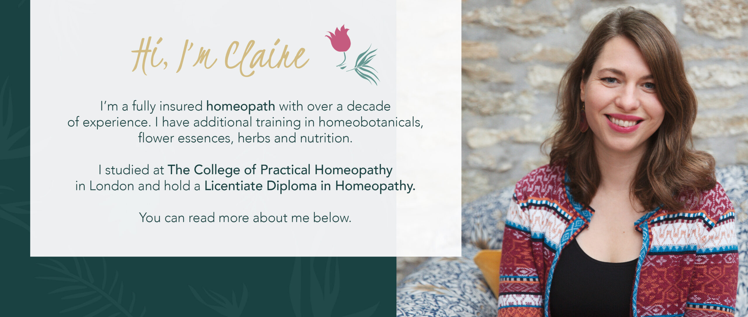 About me | Claire Zarb | Homeopath | London | Skype